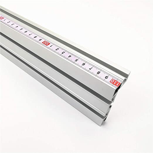 Ruoxiang banco da lavoro per recinzioni 75 mm di altezza con binari a T sega a T in alluminio per falegnameria fai da te