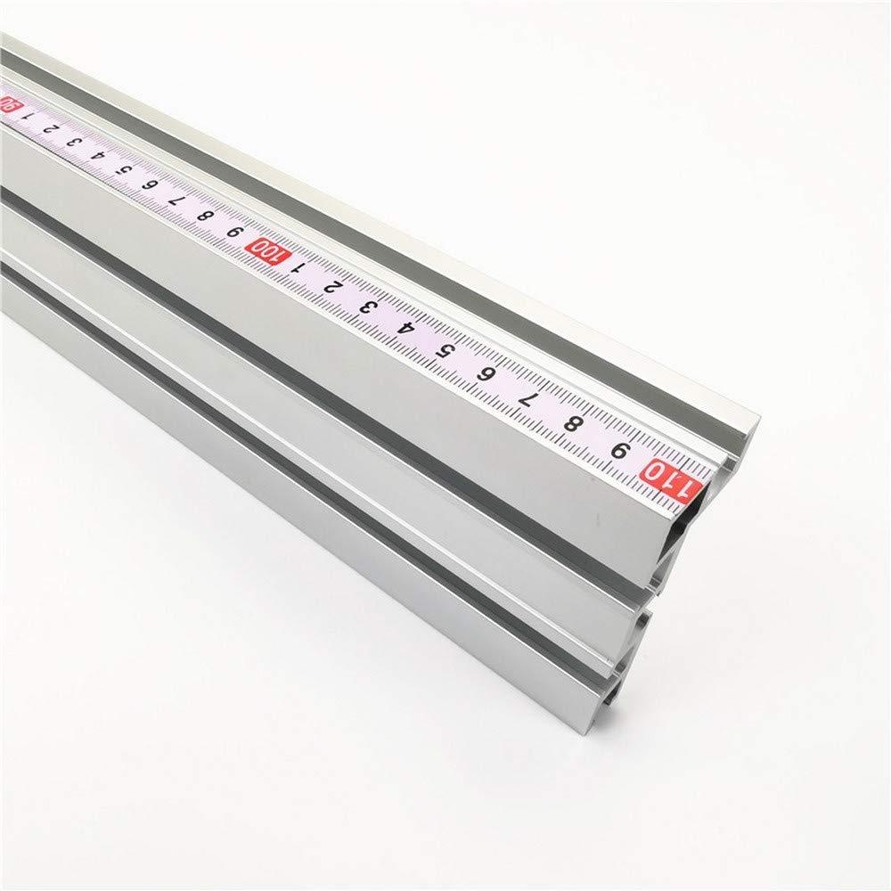 Laecabv 600mm 75 Typ T-Nut Aluminium Holzbearbeitung Backer Tischkreiss/äge F/ür Holzbearbeitung Werkbank DIY Modifikation f/ür Zaun 75mm H/öhe mit T-Schienen Limiter, Silber