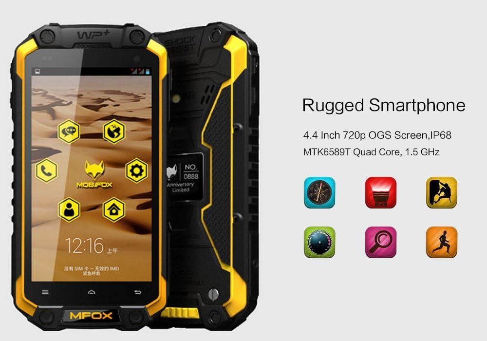 MFOX A5 – Smartphone Robuste/IP68/Pantalla 4.4 Pulgadas 720p OGS ...