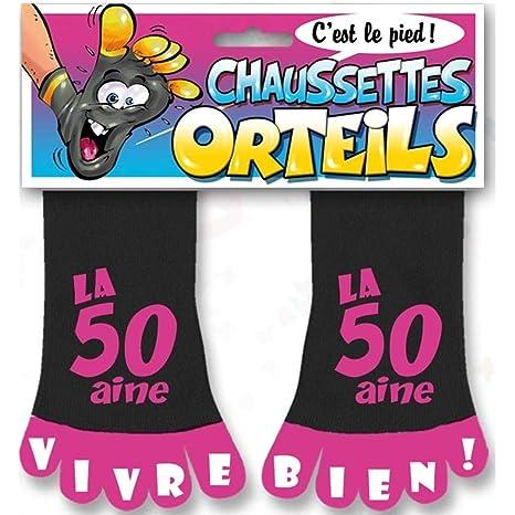 STC - Calcetines con dedos para cumpleaños, color rosa