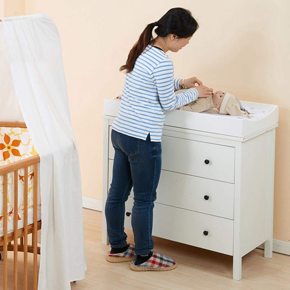 HANSHAN Bedding Changing Table Topper Color : Black Crib Care Station Baby Finishing Table Gray//Black 33 /× 17 /× 3 Inch
