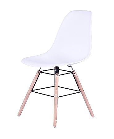 Sam Design Schalenstuhl Helsinki Weiss Massive Beine Aus Buche
