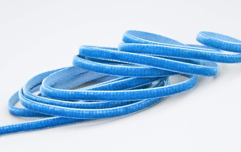 1 m x 9 mm METERWARE Dekoband Velour einseitig Samt festkantig zum n/ähen dekorieren 197 finemark Samtband Aquablau