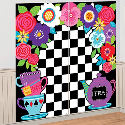 5ft Mad Hatter Tea Party Wall Decoration Kit