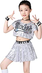 372f258b037e LOLANTA Girls Sequins Jazz Dance Costume Hip Hop Modern Performance Dance  Outfits