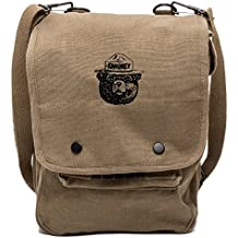 Grab A Smile Smokey Bear Canvas Crossbody Travel Map Bag Case