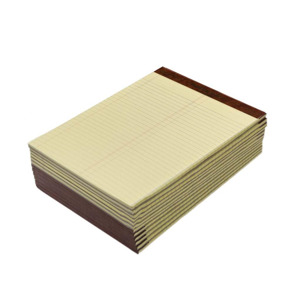 Premium Classic Yellow Legal Pads (8-1/2'' x 11-3/4'', Litigation Ruled Plain)