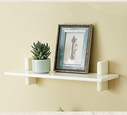 estantes de partición de madera maciza salón TV caja de pared estantes de fondo decoración de pared estantes de tablero laminado (Color : B , Size : 60*18*15cm) : Amazon.es: Hogar
