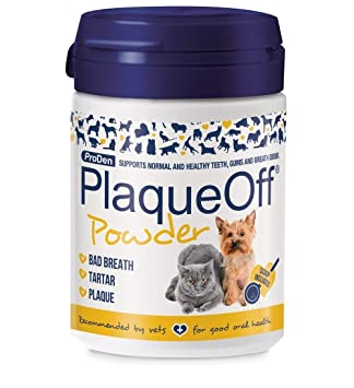 2 X Plaque Off Dog And Cat Food Supplement 60 G