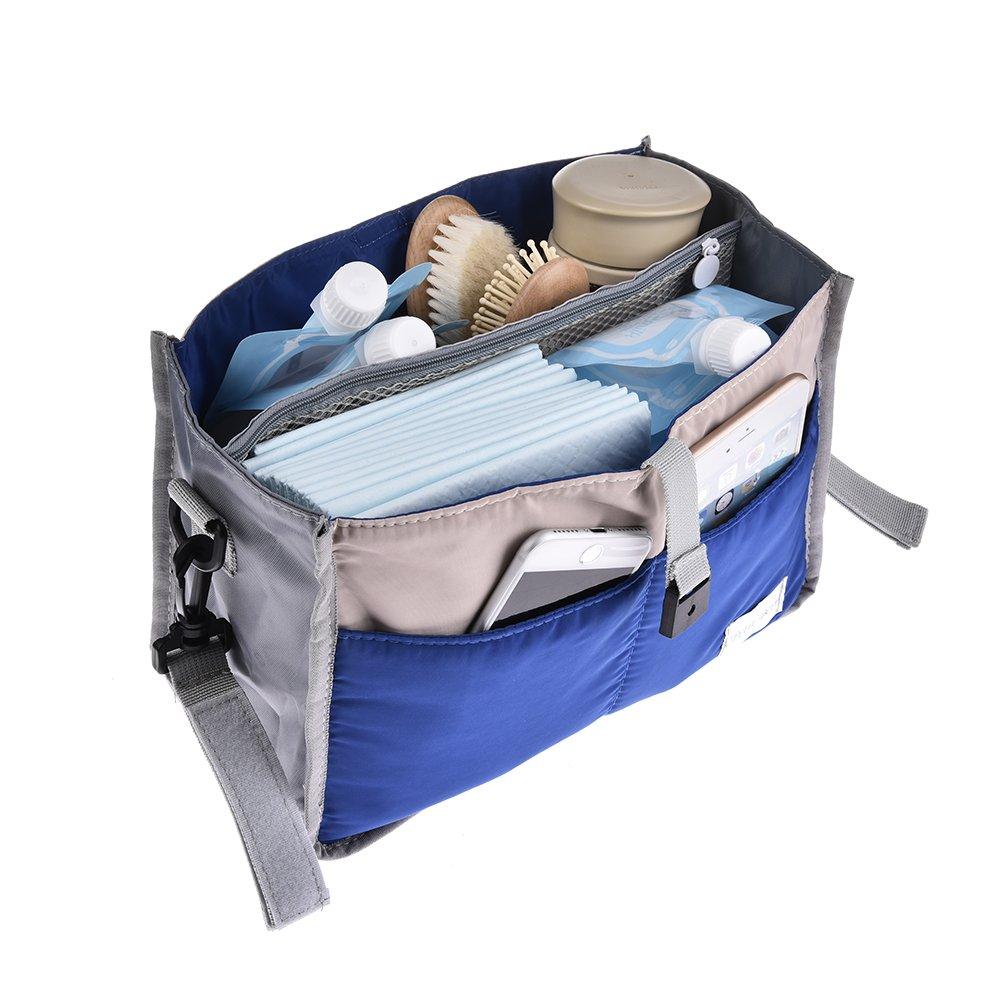 Bolsa de almacenamiento para cochecito de bebé, bolso carrito bebe, cochecito de bebé, accesorios para mamá, bolsa para el carro de bebé, bolsa de transporte para bebé, bolsa de nailon con cremallera, bolsa de viaje Rosa 28 x 16.5 x 8.5cm PROKTH