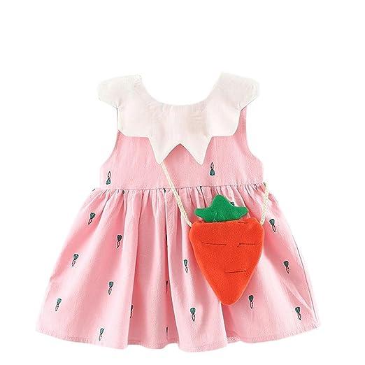 37f40c02cd1b Amazon.com  WFFO Toddler Kids Baby Girls Sleeveless Strawberry ...
