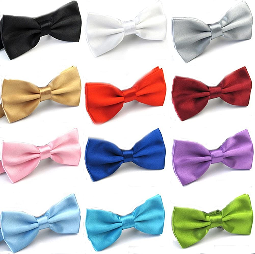 Men Mixed Color Elegant Adjustable Pre-tied Bow Ties Variety Colors Random Delivery
