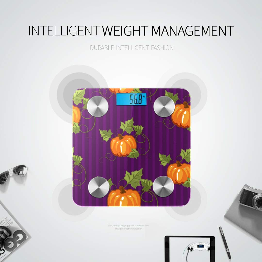Bluetooth Body Fat Scale Autumn Gift Wrapping Invitation Smart Wireless Scale with LCD Display Measuring Body Weight Bmi and Health Digital Scale S by WHDKG