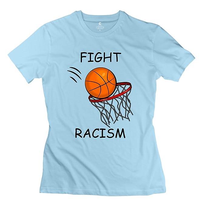 sookuera Canasta de baloncesto Vista lateral - Canasta de baloncesto Camisetas de manga corta L Mujer: Amazon.es: Ropa y accesorios
