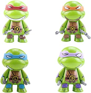 4Pcs Teenage mutant ninja turtles cake topper teenage mutant ninja turtles Action Figures Toys for the teenage mutant ninja turtles party supplies
