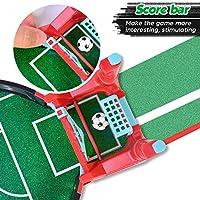 Kriogor Mini Mesa De Futbolín Juegos, Mesa de Juego de futbolín Mini Juego de Arcade de Mesa de fútbol Juego de fútbol de Escritorio en Miniatura para niños Fiesta Familiar: Amazon.es: Juguetes
