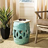 Cheap Safavieh Castle Gardens Collection Double Coin Light Blue Ceramic Garden Stool