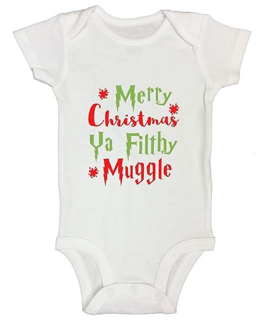 harry potter onesie kids toddler shirt merry christmas ya filthy muggle funny threadz 0