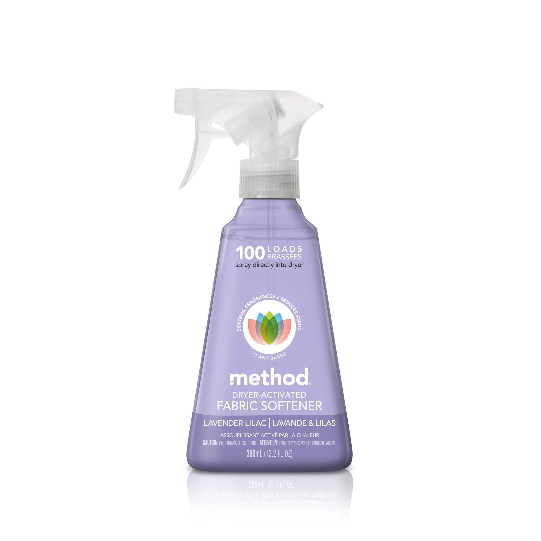 Method Dryer Activated Fabric Softener Spray 100 loads, Lavender Lilac