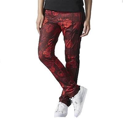 Adidas Originals pour femme Track Pants Rouge Noir Floral Firebird Pantalon de sport (L/18)