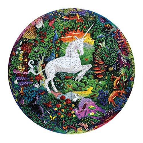 eeBoo Unicorn Garden Round Puzzle, 500 pieces