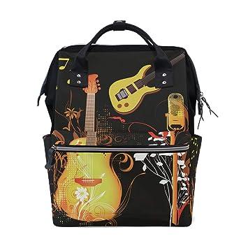 Amazon.com: MUOOUM Guitarra Amarilla Mic Notas Mic Diaper ...