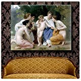 """Alonline Art - Admiration William Bouguereau 