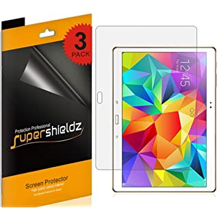 (3 Pack) Supershieldz for Samsung Galaxy Tab S 10.5 inch Screen Protector, High Definition Clear Shield (PET)