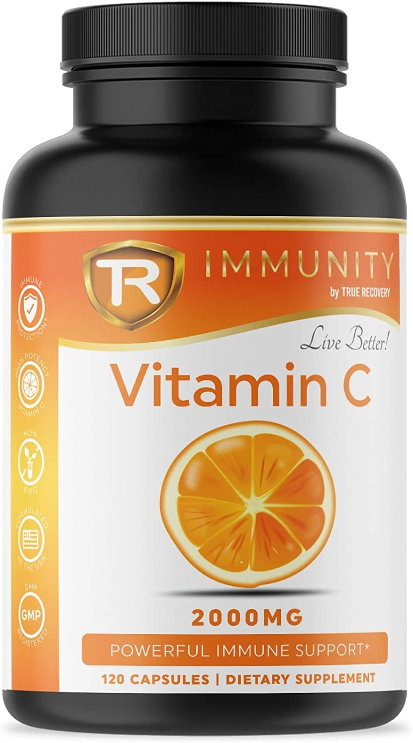 Vitamin C 2000mg - Powerful Immune System Protection with Potent Antioxidants and High Absorption Ascorbic Acid Vitamin C - 120 Immune Defense Capsules