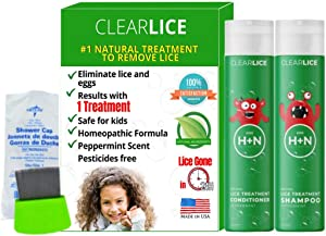 ClearLice® Lice Treatment Product Bundle (Shampoo + Conditioner + Comb + Cap)