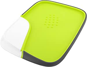 Nuovoware Cutting Board, Detachable Multi-function Cutting Board Plastic Reversible Kitchen Board Non-Slip Frame Chopping Board for Food Prep, BPA Free, Green & White