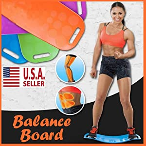 Isaa Miilne Core Fit Twist Balance Board Yoga Turning Fitness Exercise Workout Gym Purple