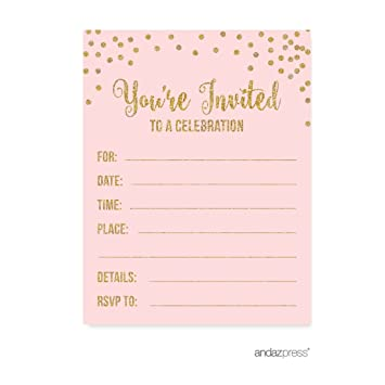 amazon com andaz press blush pink gold glitter girl s 1st birthday