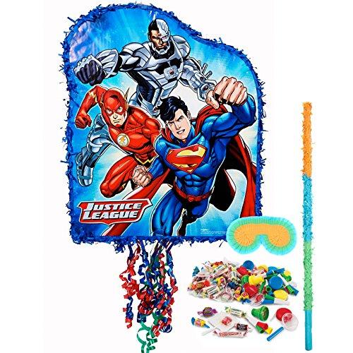 BirthdayExpress Justice League Pull-String Pinata Kit -