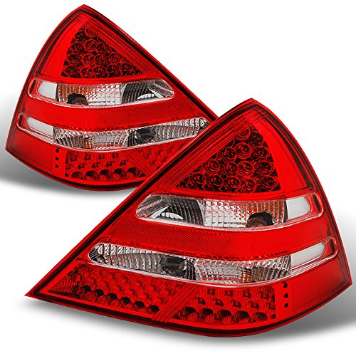 Benz Slk Mercedes Amg 32 (Mercedes Benz R170 SLK Class Red Clear Rear LED Tail Lights Brake Lamps Replacement Left + Right)
