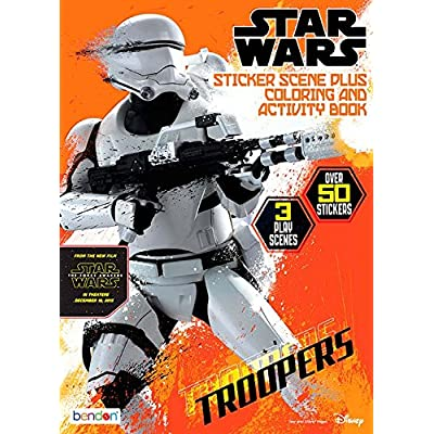 Star Wars Coloring & Activity Book w/ Sticker Scenes: Toys & Games