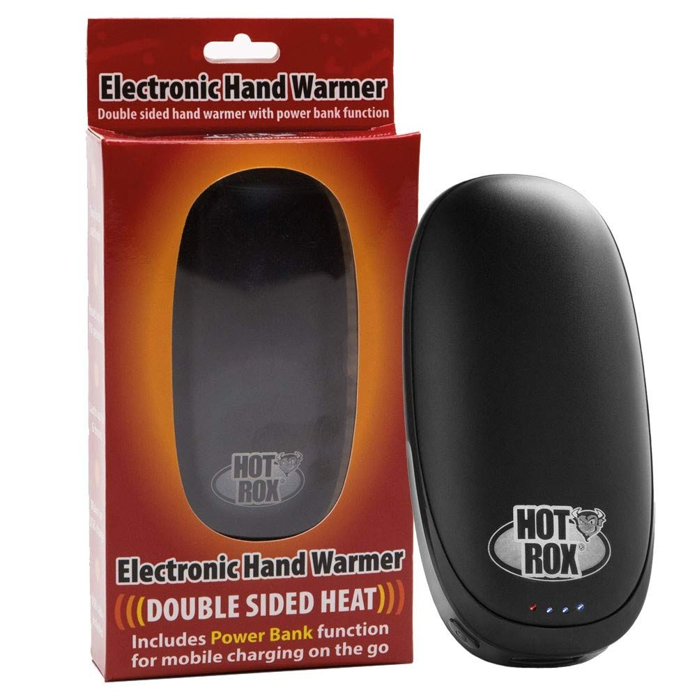 Hotrox Double Sided Heat Rechargeable Hand Warmer Includes Powerbank: Great Gadget For Golfing, Fishing, Walking, Cycling