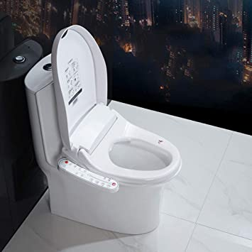 Amazon Com Yui Smart Toilet Seat Bidet System Attachment Elongated White Dual Self Cleaning Nozzle Heated Warm Water Soft Feminine Clean Dryer Butt Safety And Health Sports Outdoors
