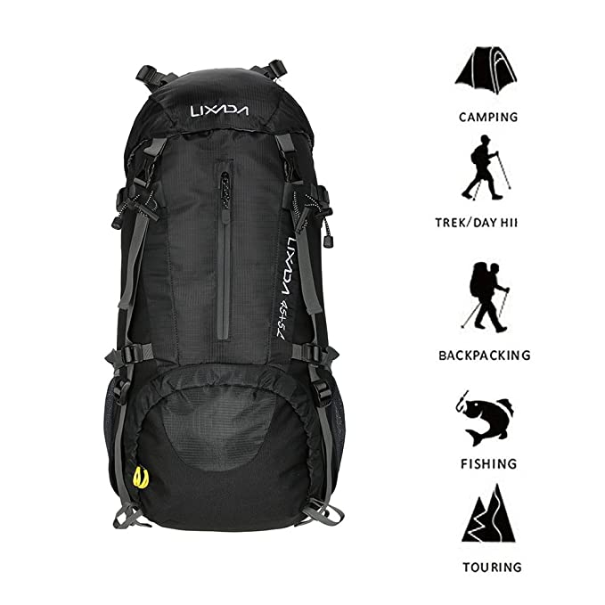 d13b0086c8f9 Seenlast 50L Hiking Backpack with Rain Cover Outdoor Sport Daypack Travel  Waterproof Bag for Climbing Camping Touring Mountaineering