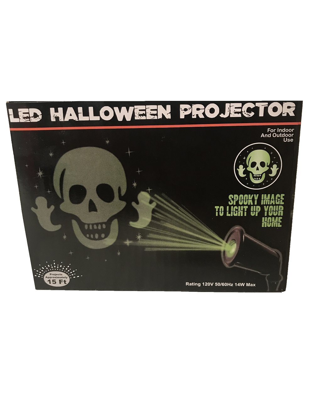 LED Halloween Projector! Spooky Image to Light up Your Home! for Indoor and Outdoor Use! Projects Approximately 15 Feet! Spooky Skeleton Design!