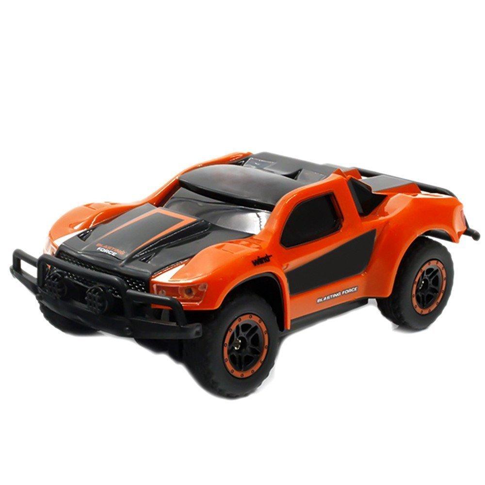 SGOTA RC Car 2.4Ghz 1:43 Mini Remote Control Electric High Speed Racing Car for Kids (Orange)