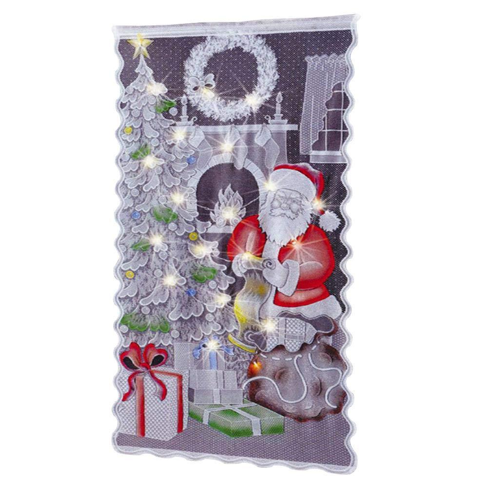 Amazon.de: Ksruee Weihnachts Vorhang, Weihnachten Duschvorhang Haus ...