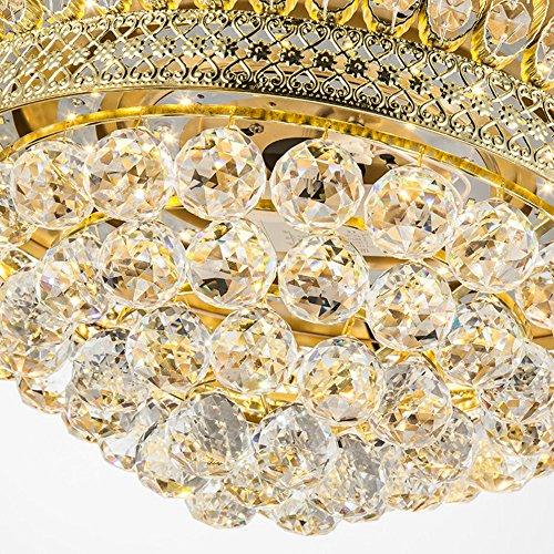 From RS Lighting 42 in Modern Luxury Crystal Fan Lights Mute Living Room Bedroom Led Energy Saving Fan Chandelier Stealth Ceiling Fan Lights by RS Lighting (Image #3)