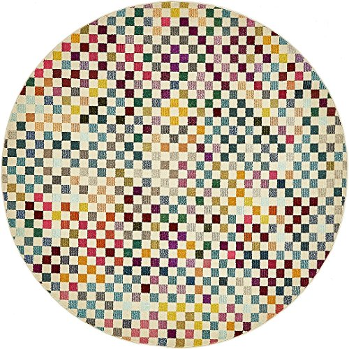 Island Bedroom - Island Collection Modern Contemporary Rugs Living Dinning Bedroom Area Rug 8' x 8' Round, Multi