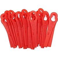 JUN-H 100 Piezas Cuchillas De Plástico para Cortacésped Original Cuchillo De Repuesto para Cortadoras De Césped…