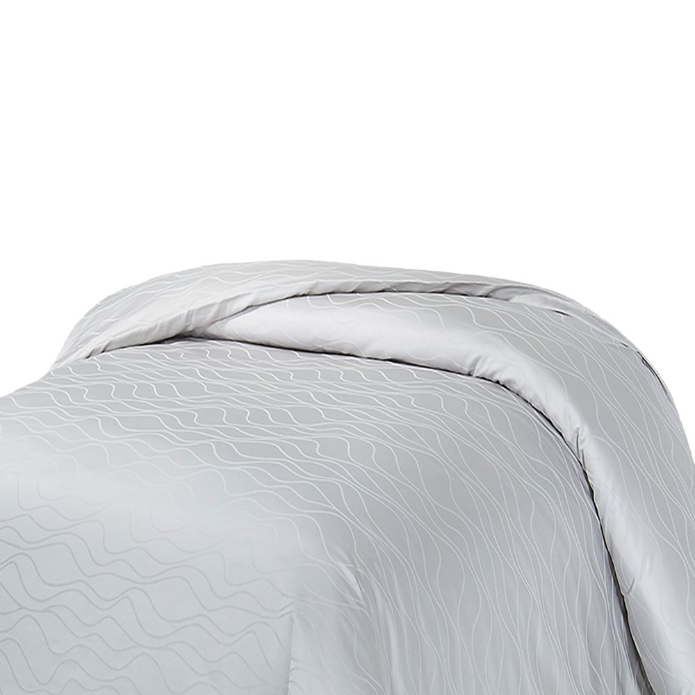 Misty Grey Twin Natural Comfort HS300DC-Wav-GY-T Bedding Collection Duvet Cover