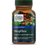 Gaia Herbs, SleepThru, Sleep Support, Non Habit Forming Herbal Sleep Aid, Passionflower, Ashwagandha, Jujube, Organic…