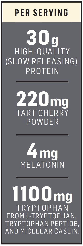 Cytosport Sleeping Giant Nighttime Protein Supplement Mix with Melatonin and Tryptophan, Vanilla...