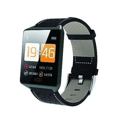 YUNDING Reloj Bluetooth, Reloj Digital Inteligente, Brazalete Deportivo, Monitoreo del Ritmo cardíaco/