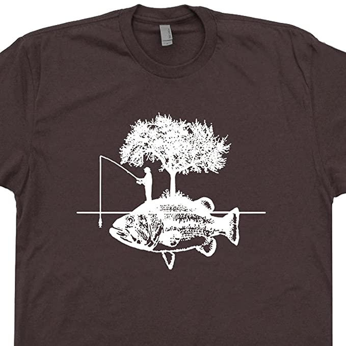 b4c9371f S - Fishing T Shirts Funny Graphic Tee Cool Fisherman I'd Rather Be Eat